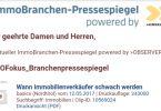 Observer startet Branchen-Pressespiegel