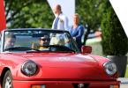 Nostalgische Rennsemmeln Toyota Frey Classic 2017 rotes Auto