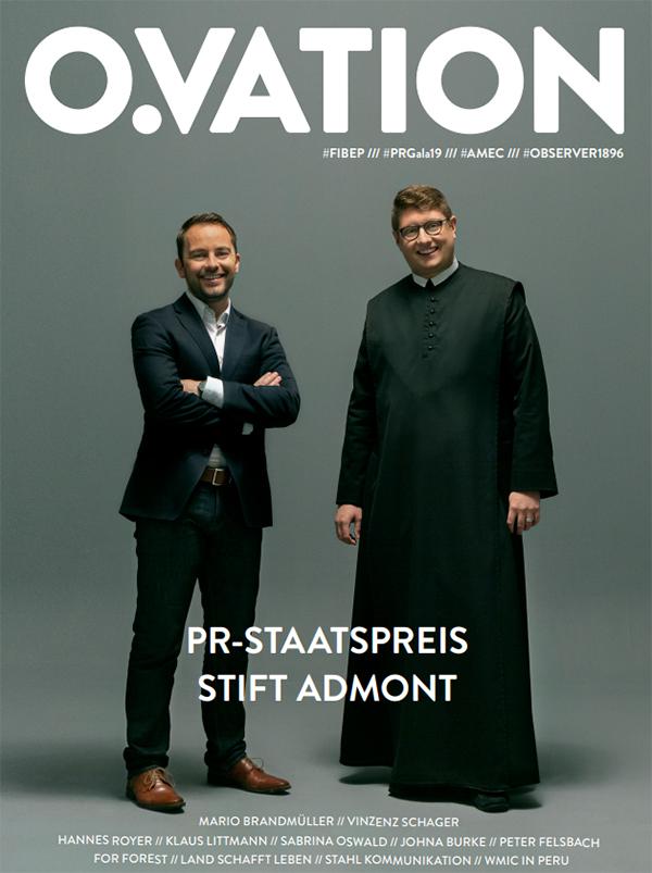 OVATION Titelinterview Stift Admont Mario Brandmüller Vinzenz Schager