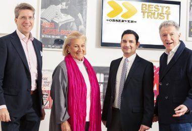(v.l.n.r.) Florian Laszlo, Roswitha Hasslinger, Simon Gebauer, Manfred Berger