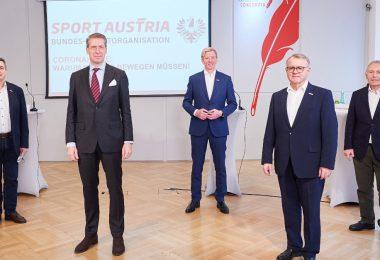 (v.l.n.r.: Hermann Krist, Florian Laszlo, Peter McDonald, Hans Niessl, Christian Purrer) Leo Hagen